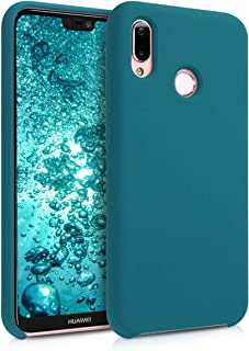 kwmobile Funda Compatible con Huawei P20 Lite - Carcasa de TPU para móvil - Cover Trasero en petróleo Mate