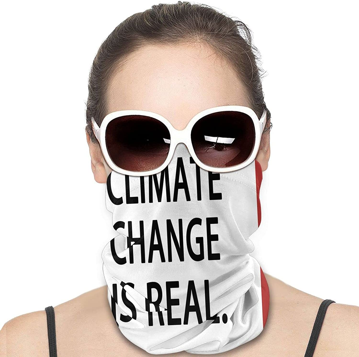 Climate Change Is Real Round Neck Gaiter Bandnas Face Cover Uv Protection Prevent bask in Ice Scarf Headbands Perfect for Motorcycle Cycling Running Festival Raves Outdoors