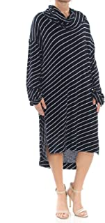 Womens Cowl Neck Striped Tunic Top