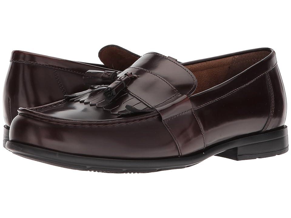 Nunn Bush Denzel Moc Toe Kiltie Tassel Slip-On KORE Walking Comfort Technology (Burgundy) Men