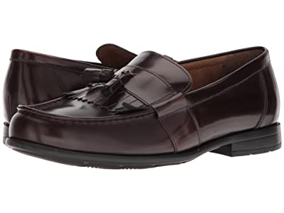Nunn Bush Denzel Moc Toe Kiltie Tassel Slip-On KORE Walking Comfort Technology (Burgundy) Men