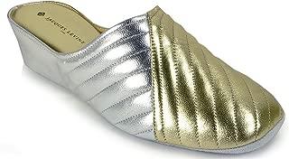 #1221 Womens Leather Wedge Slipper