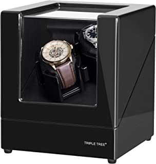 TRIPLE TREE Double Watch Winder, for Automatic Watches, Wood Shell Piano Paint Exterior,Extremely Silent Motor, Three Dime...