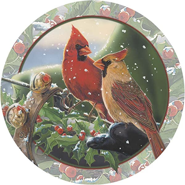 Thirstystone Stoneware Coaster Set Cardinal Sleighride