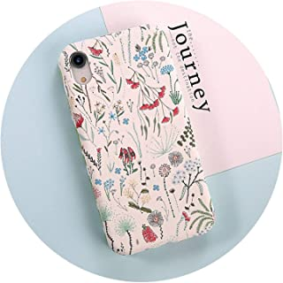 電話ケースのためのiphone x xr xs最大8 7 6 6 sプラス漫画色とりどりの花パイナップル葉ハードpcバックカバーケースcoque,T1,For iPhone 8 Plus