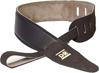 DR Strings 500BR Butter Soft Glove Leather Guitar Strap, Brown