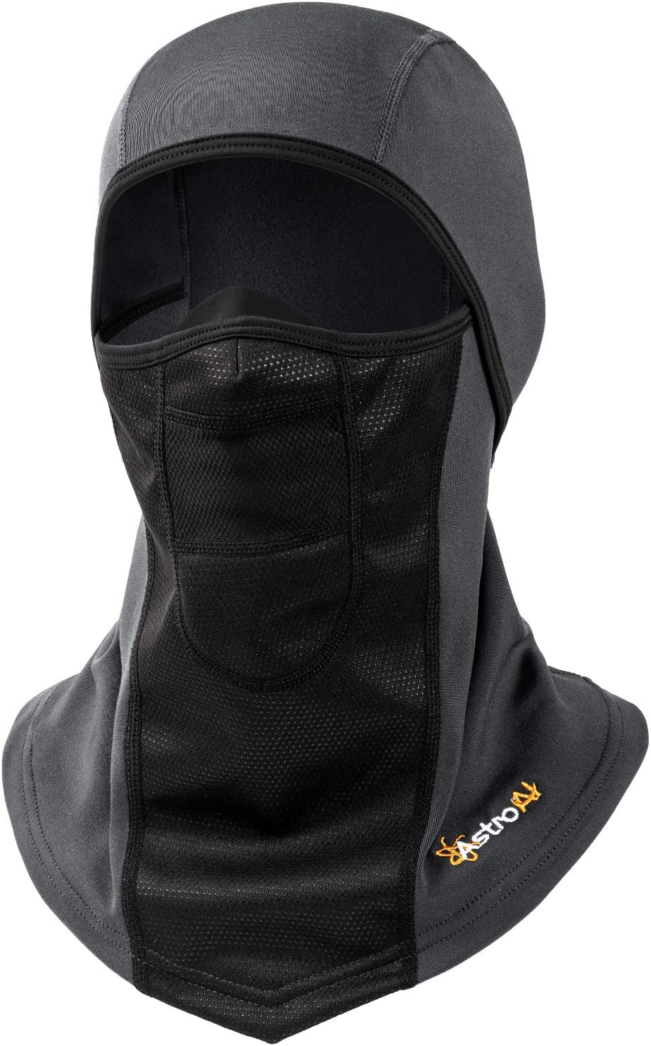 AstroAI Ski Mask Windproof Balaclava for Cold Weather, Winter Face Mask Breathable Stretchable for Skiing, Snowboarding & Motorcycle Riding, Full Protection Mask for Men/Women Grey