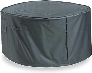 Lumaland Cubierta Lona Protectora Impermeable para Muebles de jardín Cubierta para Mesa Cuadrada de Comedor 67,3 (Alto) cm, 127 (L) cm, 66 (W) cm Oxford 600D 280 g/m² Verde/Gris
