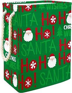 Vockgeng Noël Père Noël Accueil Organisation Panier de Rangement imperméable Pliable de Jouets de Jouets de Panier avec de...