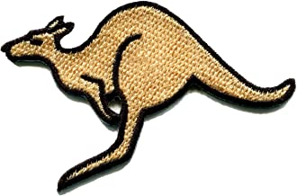 Kangaroo Australia Roo Boomer Marsupial Animal Applique Iron-on Patch New S-603 Handmade Design From Thailand