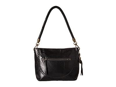 The Sak Indio Leather Demi (Black) Shoulder Handbags
