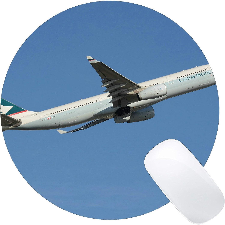 Yanteng Cojín de ratón Redondo del Juego, Airbus A330 Ordenador portátil del avión de pasajeros Cojín de ratón Redondo Cojín del ratón Redondo del Juego