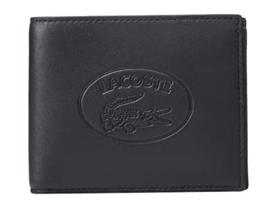 Lacoste L.12.12 Cuir Billfold (Black) Wallet Handbags