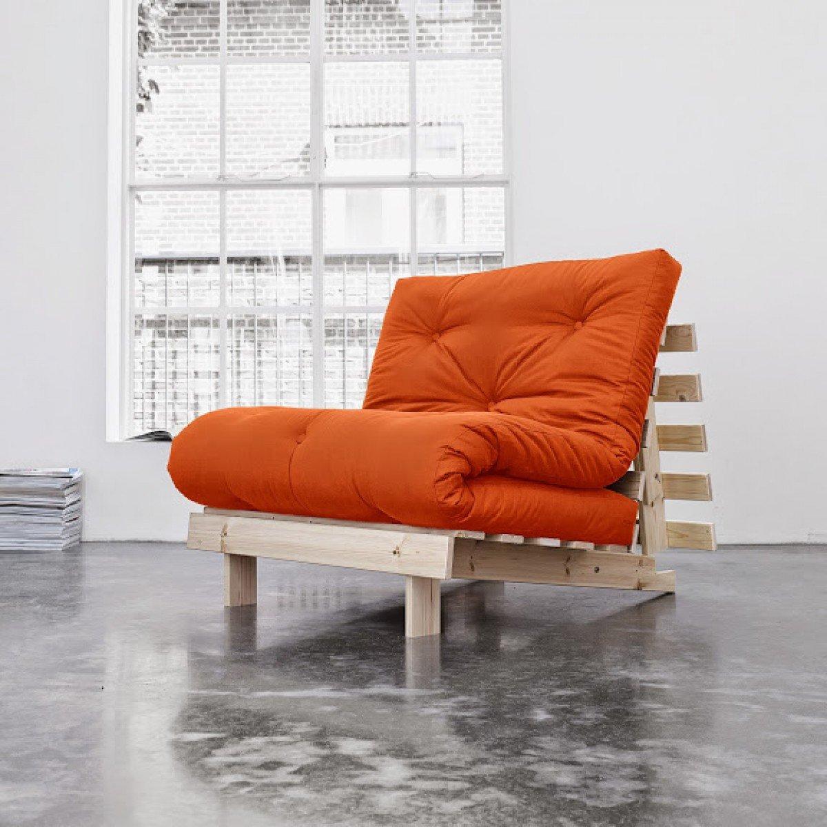 Pack Colchón futón Goyave algodón estructura en madera natural, algodón, 90 x 200: Amazon.es: Hogar