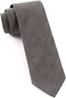 The Tie Bar 100% Cotton Warm Gray Classic Chambray 2 1/2 Inch Skinny Tie