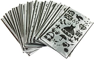 naissant ステンシル 図面 ツール テンプレート 描画 手帳 塗り絵 製図 用 絵画 教育 学習 定規 DIY 30枚 セット
