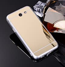 Galaxy J7v Case, Galaxy J7 Perx Case, Galaxy J7 Prime, Galaxy J7 Sky Pro Case, Galaxy Halo Case, SOGA [Reflection Guard] Luxury Mirror Back Slim Shock-Absorption TPU Protective Case - Gold