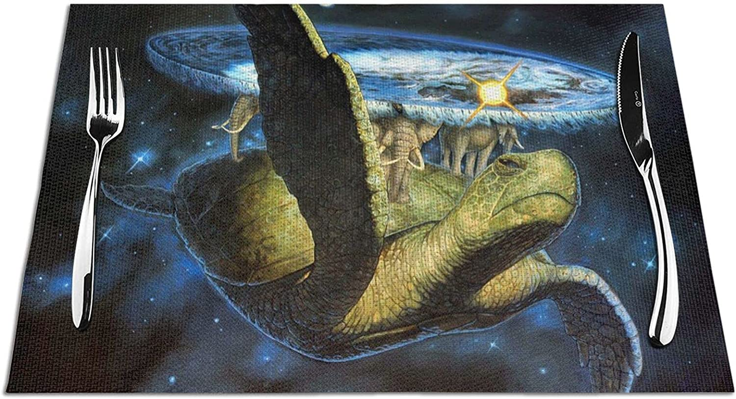 Recommendation Woven Placemat Fantasy High quality new Turtles and Dinin Elephants Placemats for