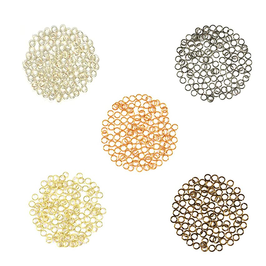 Metal Mix w/Silver - Enameled Copper Jump Rings – 22 Gauge – 4.0mm ID - 500 Rings - Silver, Bronze, Hematite, Vintage Bronze, Gold