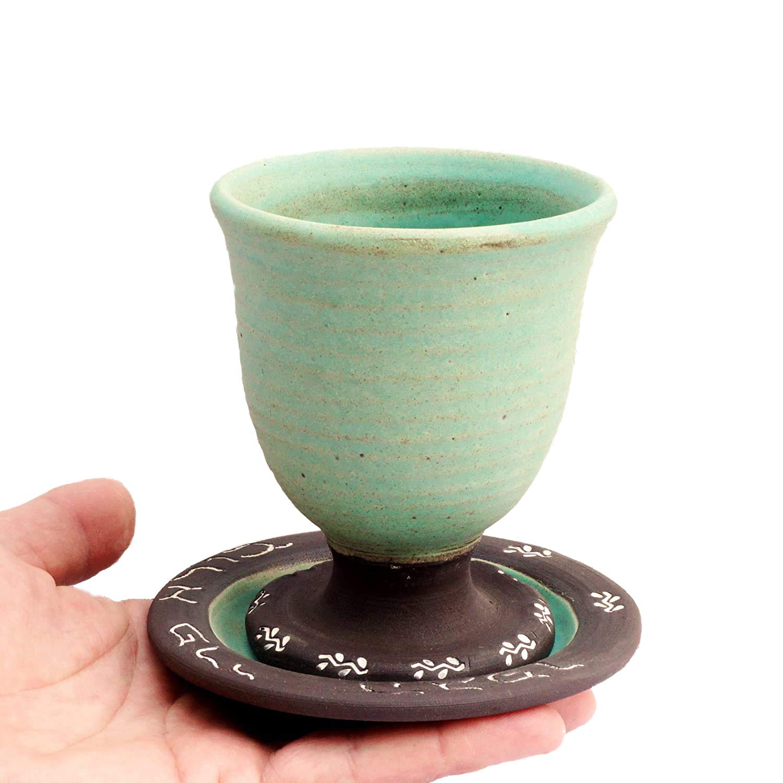 Opening large release sale Ceramic kiddush cup Ranking TOP11 Kiddush goblet Wine judaica Jewis