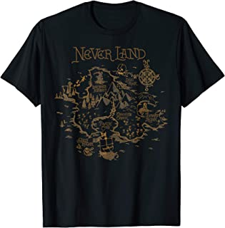 Peter Pan Never Land Map Graphic T-Shirt