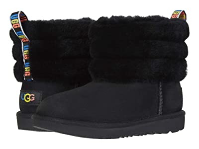 UGG Kids Fluff Mini Quilted (Little Kid/Big Kid) (Black Rainbow) Girl