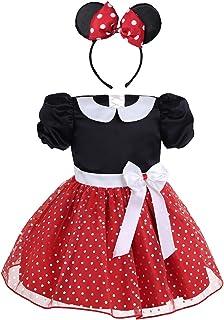 IEFIEL Vestidos de Princesa Fiesta Bautizo para Bebés Niñas Disfraces Infantiles de Navidad Carnaval con Lunares Conjuntos...