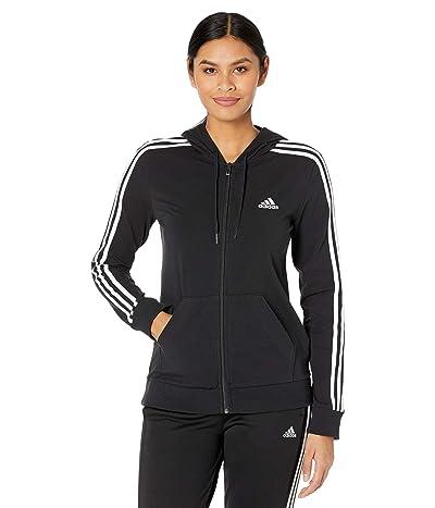 adidas 3-Stripes Single Jersey Full Zip Hoodie