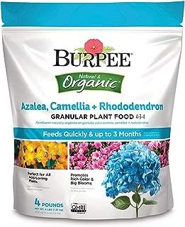 Burpee Organic Azalea Camellia Rhododendron Granular Plant Food, 4 lb, 1 Pack