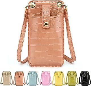 Damen Handytasche zum Umhängen Leder Handy Umhängetasche Klein Crossbody Krokodilmuster Handtasche Phone Tasche für iPhone...