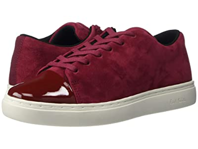 Paul Smith Patent Toe Suede Lee Sneaker (Burgundy) Women