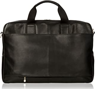 cfd2881117 Knomo Amesbury Double Zip Leather Briefcase for 15.6-Inch Laptop - Black