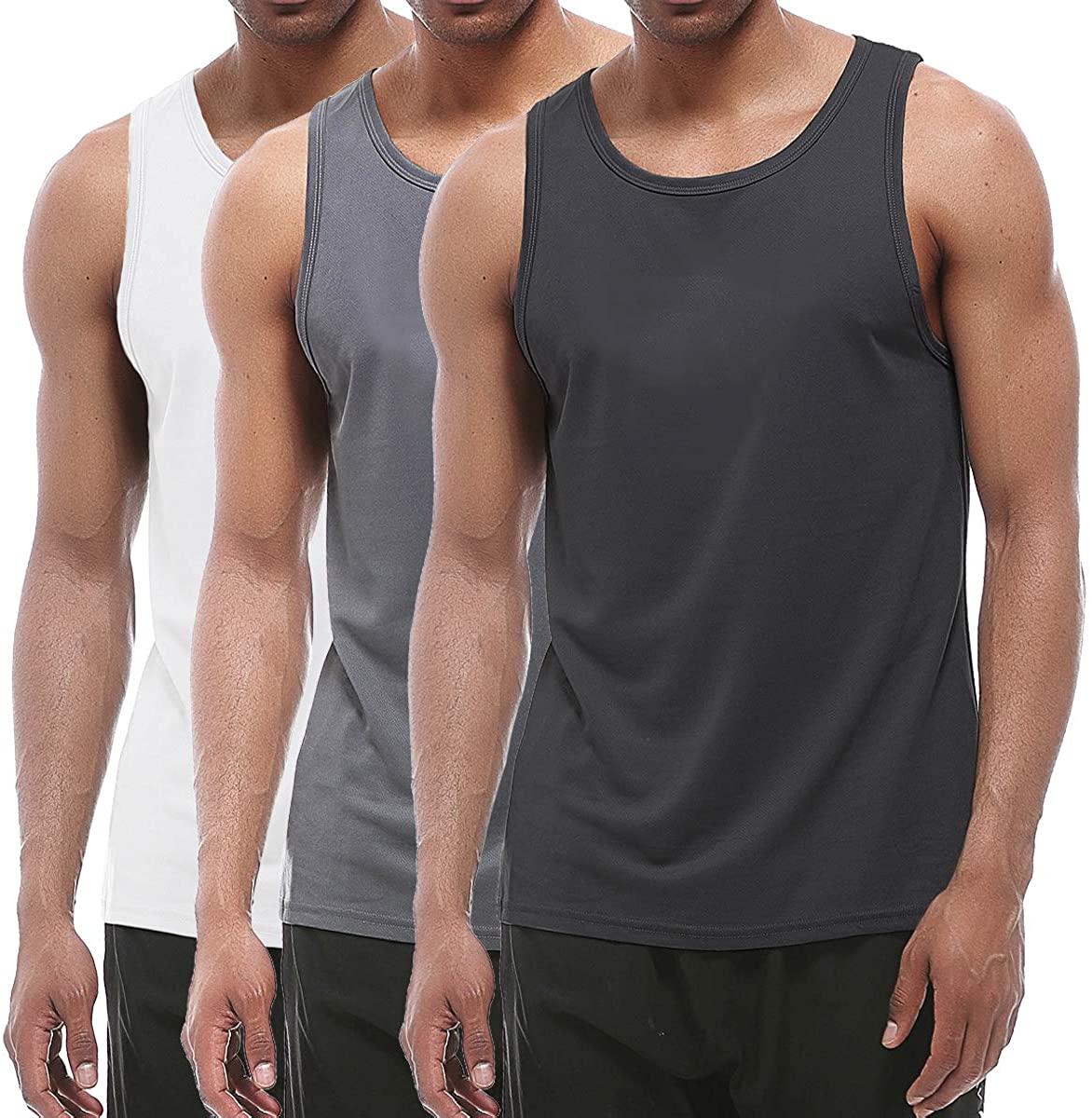 XIHUII Men's Tank Tops New product type - 2021 new 3 Sleeveless Gym Pack Trai Workout