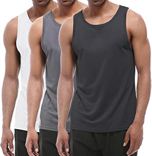 XIHUII Men's Tank Tops - 3 Pack Workout Gym Sleeveless Training Fitness for Men