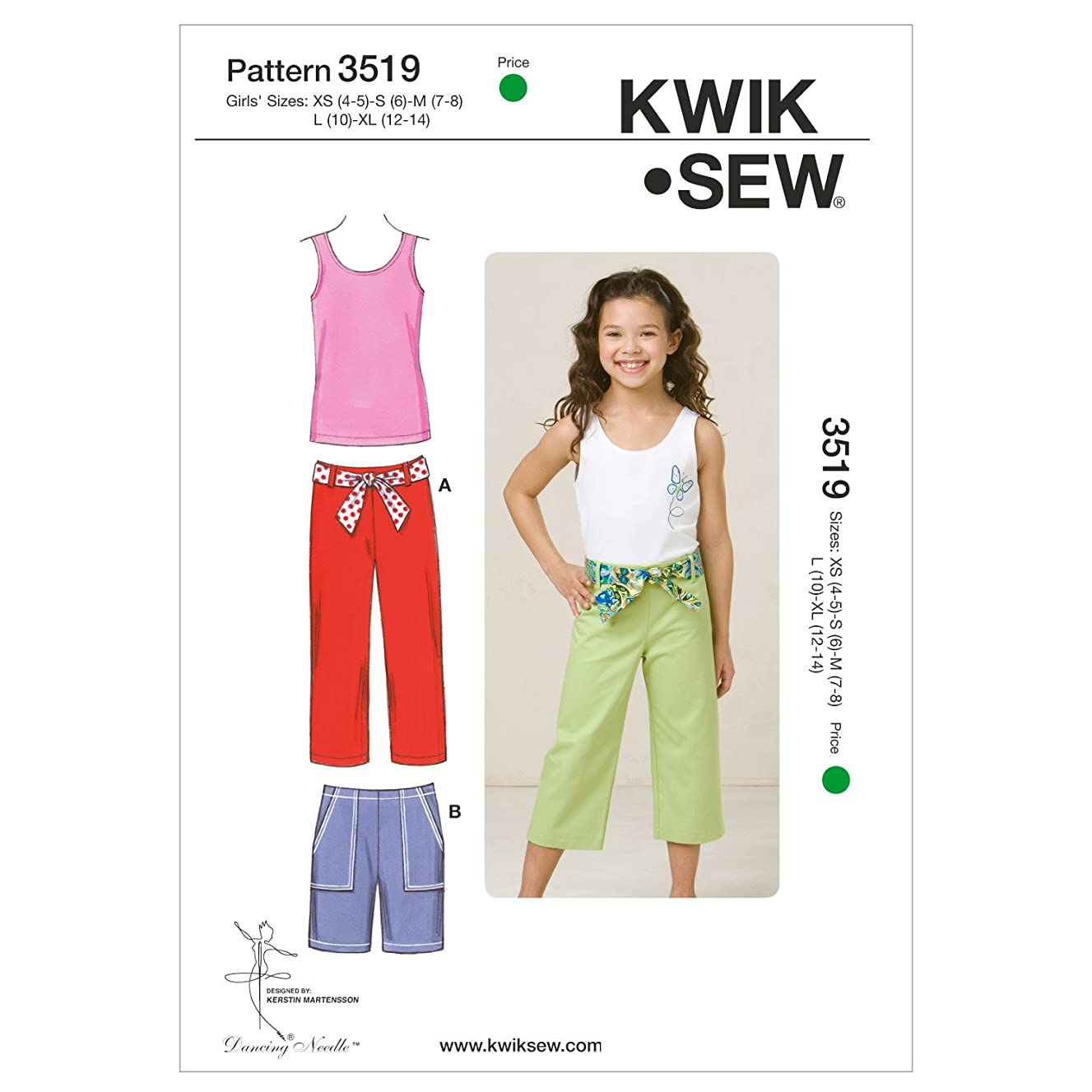 Kwik Sew K3519 Pants Sewing Pattern, Shorts and Top