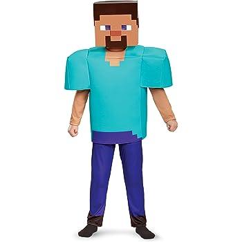 Amazon Com Steve Deluxe Minecraft Costume Multicolor Large 10