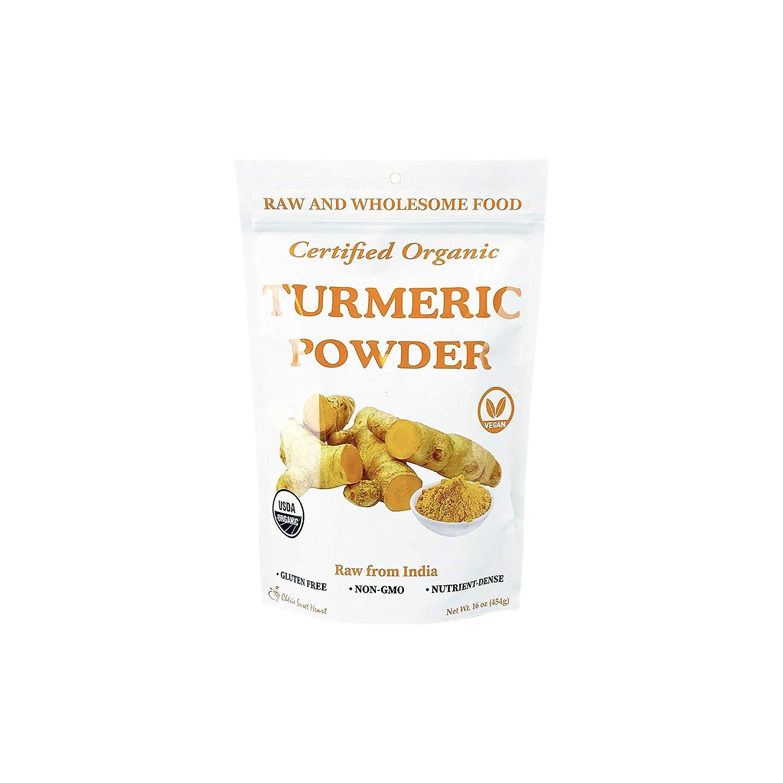 Lowest price challenge Regular store Organic Turmeric Root Powder 100% Raw 16 India 1 oz from lb