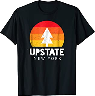Upstate New York T-Shirt - Retro Vintage Sunset