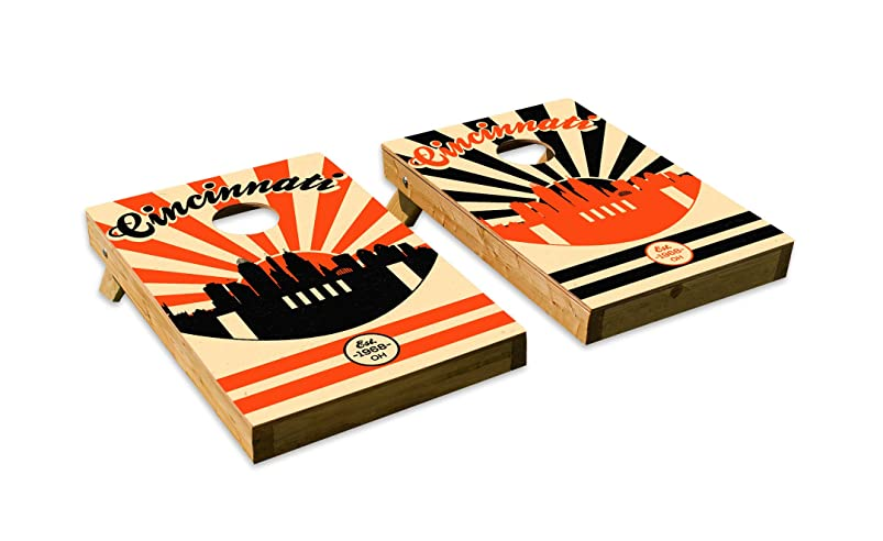 Cincinnati Bengals Design?Cornhole/Bean Bag Toss Board Set – Made in USA Wood? - 2'x3' Tailgate Size - Includes 8 Corn-Filled Bean Bags toglhxdg819642