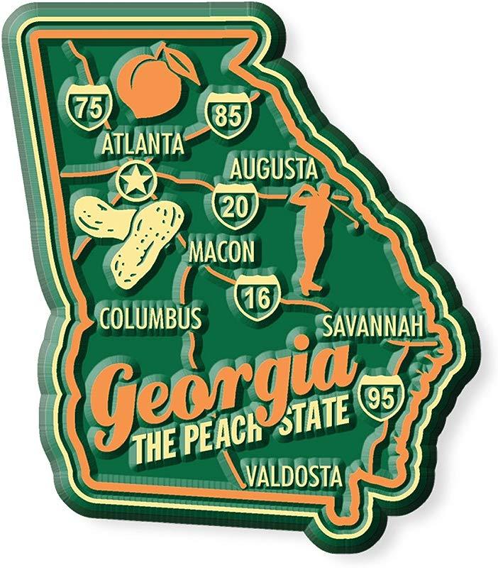 Premium State Map Magnet Georgia