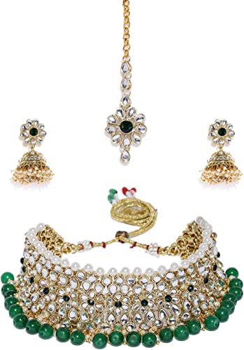Kundan Pearls Jewellery Set for Women Golden ZPFK8529