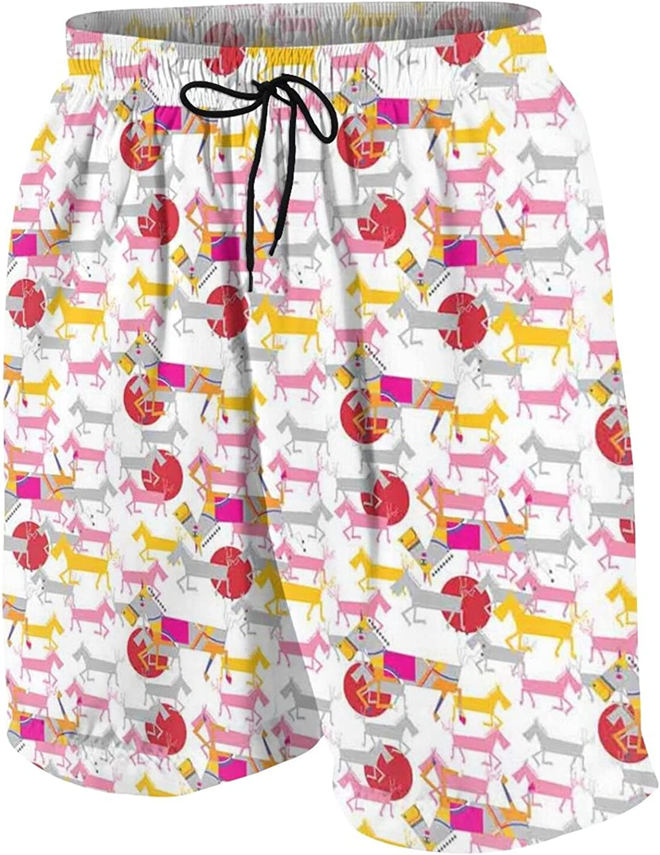 Padoni Mens Quick Dry Printed Short Swim Trunks with Mesh Lining M-XXL