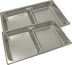 Winco SPFD2 2-1/2-Inch Divider Food Pan, Full Size (2, Stainless Steel)