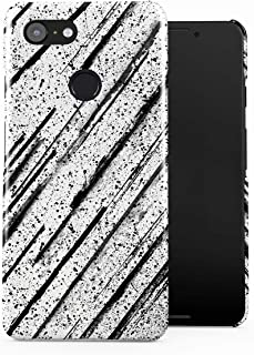 DODOX Black Ink Splash & Black Pencil Brush Pattern Case Compatible with Google Pixel 3 Snap-On Hard Plastic Protective Shell Cover Carcasa