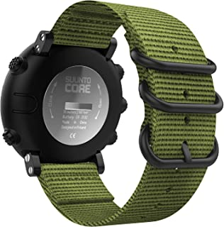 MoKo Band Compatible with Suunto Core, Fine Woven Nylon Adjustable Replacement Wriststrap Band with Double Buckle Ring for Suunto Core Smart Watch - Army Green