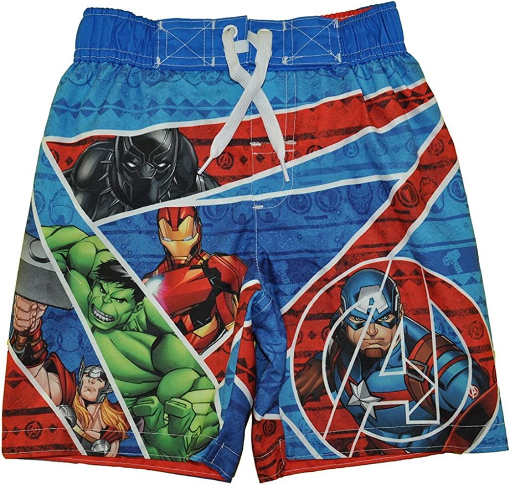 Multicolored, XS Avengers Superhero Infinity War Boys Swim Trunks