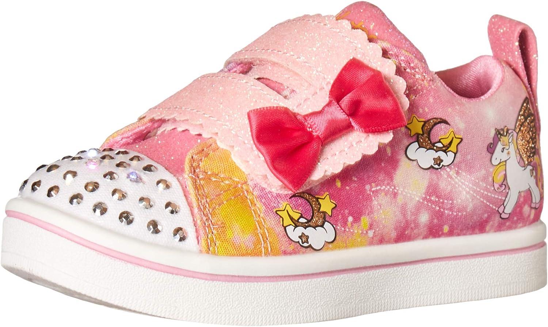 Skechers Girl's, Twinkle Toes Sparkle Rayz Unicorn Moondust Sneaker