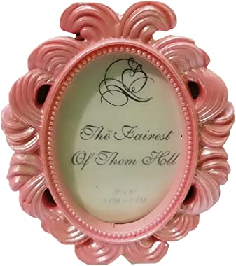 ThirteenKcanddle Oval Baroque Small Photo Frame Fashion Gift The Scene Props Table Accessories