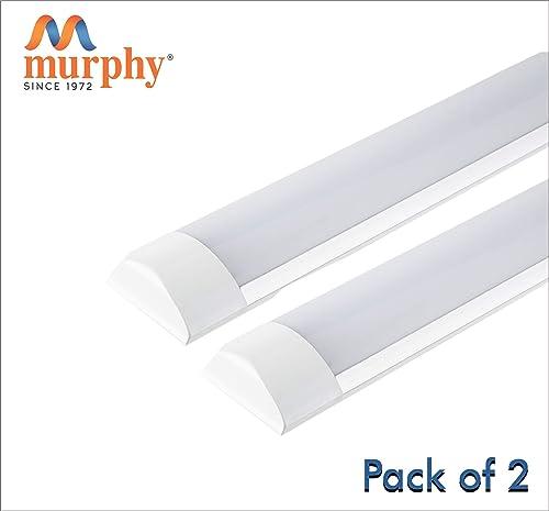 Murphy LED Flat Tube Light 4 Feet 40W -Cool White Batten Pack of 2