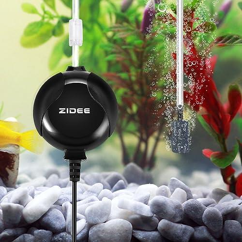 Focuspet Aquarium Pompe à Air, Super Mini Pompe Electromagnétique d'air Ultra-Silencieuse Mini Pompe à Air Aquarium Silencieux Pompe à Air pour Aquarium avec Air Stone Et Tuyau en Silicone, Noir